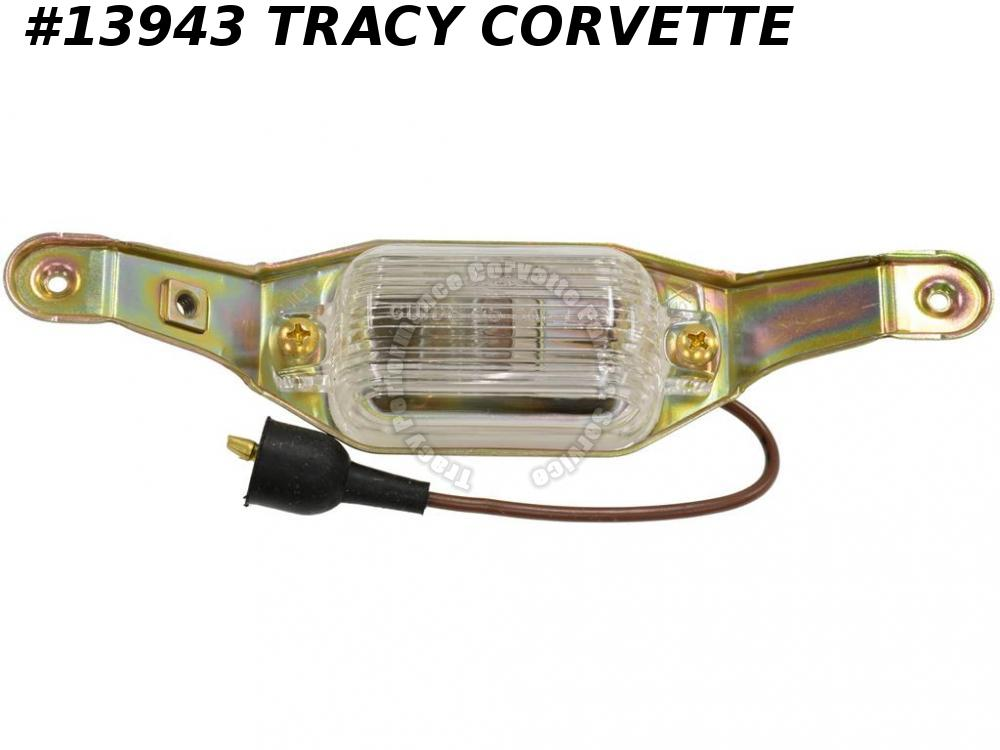 1972-1973 Corvette License Light Lamp Assembly Rear w/o fiber optic Guide 911908