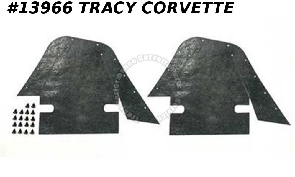 1968-1982 Corvette GM# 3947933 Front A-Arm Control Arm Flap w/ Push Pins - Pair