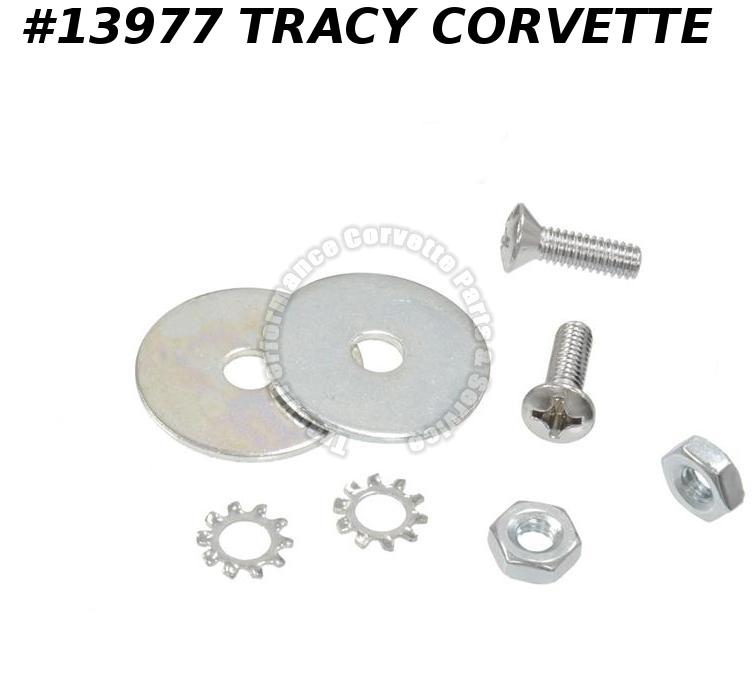 1963-1967 Corvette Soft Top Convertible Top Deck Lid Latch Screw Set - 8 Pieces