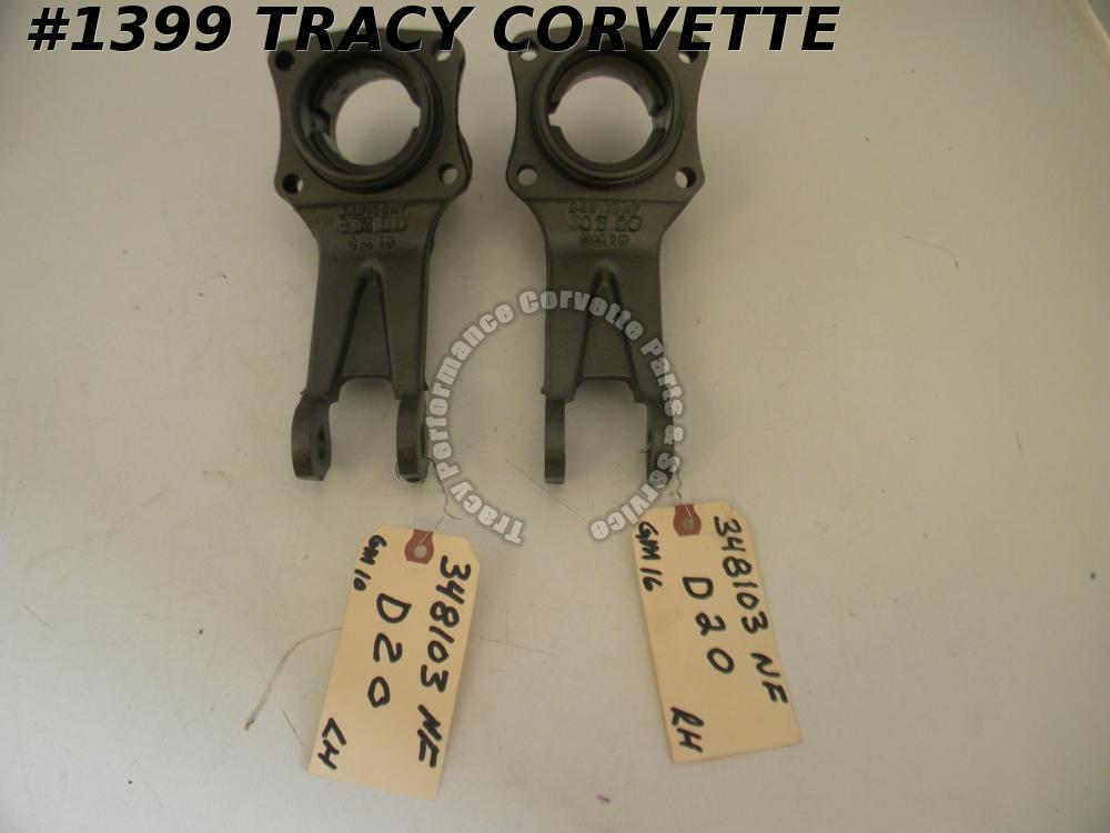 1975-1982 Corvette Original 348103 348104 Control Arm Bearing Support Dated/Pair