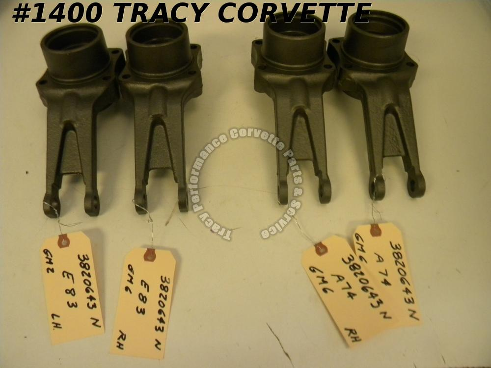 1963-64 Corvette Original 3820643 3820644 Control Arm Spindle Support Dated/Pair