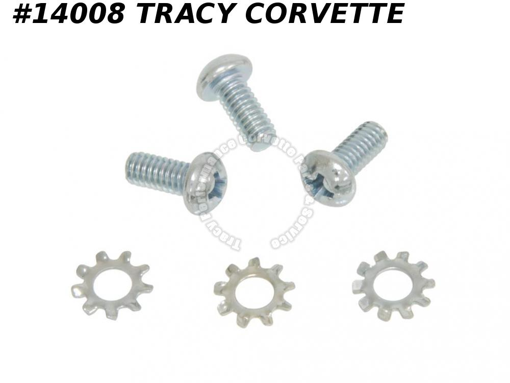 1956-1982 Corvette Horn Contact Screw Set With Washer Except '67 Tele 6 Pieces