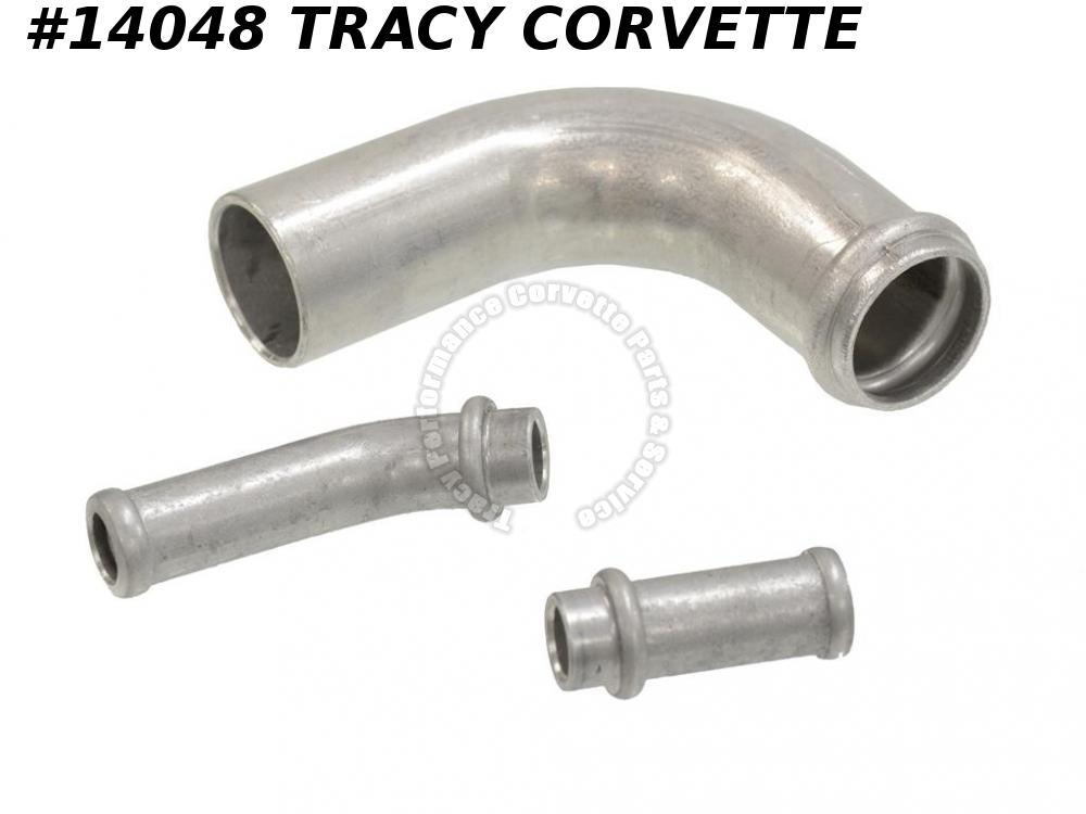 1961-1967 Corvette Expansion Tank Tube Set - Aluminum - 3 Pieces GM# 3155416