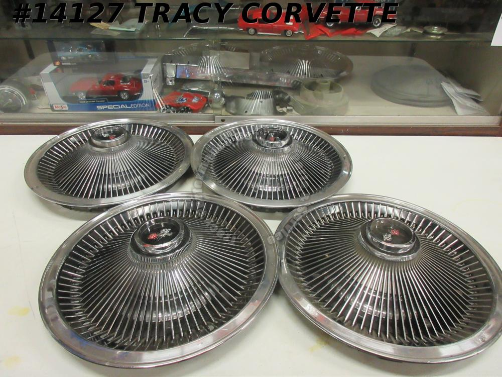 1968-1973 Corvette Deluxe Finned Wheel Cover Turbine P02 Driver Quality Hub caps