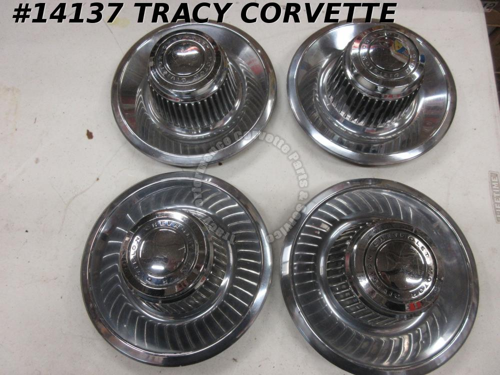 1968-1982 Corvette Rally Wheel Center Caps Camaro Nova Chevelle Derby Hub Caps