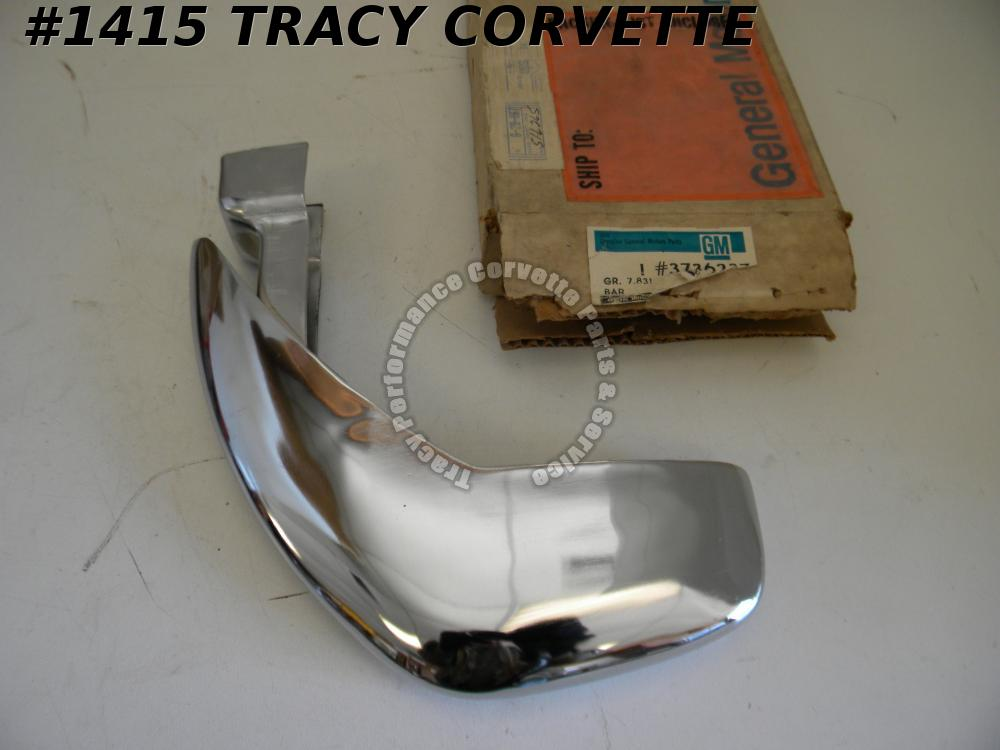 1958-1962 Corvette NOS 3736238 RH Front License Bumperette Bar 58 1959 60 61 62