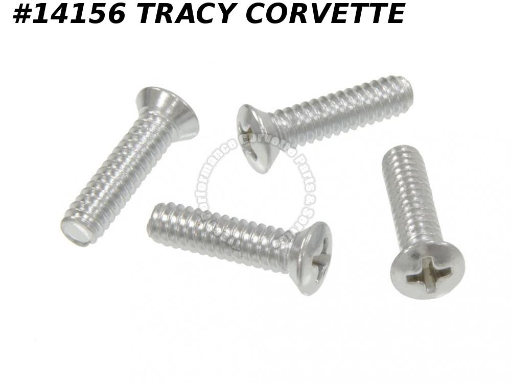 1963-1968 Corvette Sunvisor Support Screw Set - To Windshield Frame - 4 Pieces