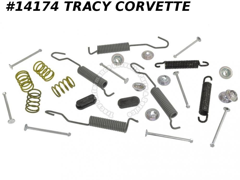 1956-1962 Corvette Brake Shoe Hardware Kit Without Adjusters - Front Both Sides