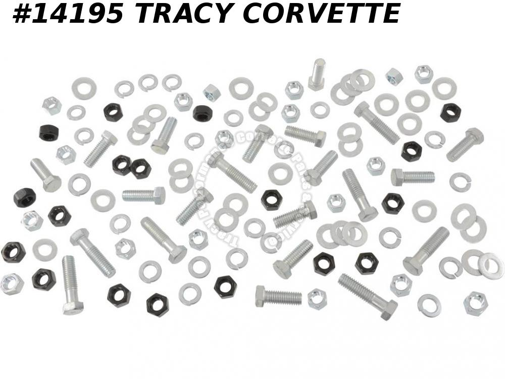 "1963-1967 Corvette RR Bumper Bolt Kit w/Correct Headmark Bolts Correct 5/8"" Nuts"