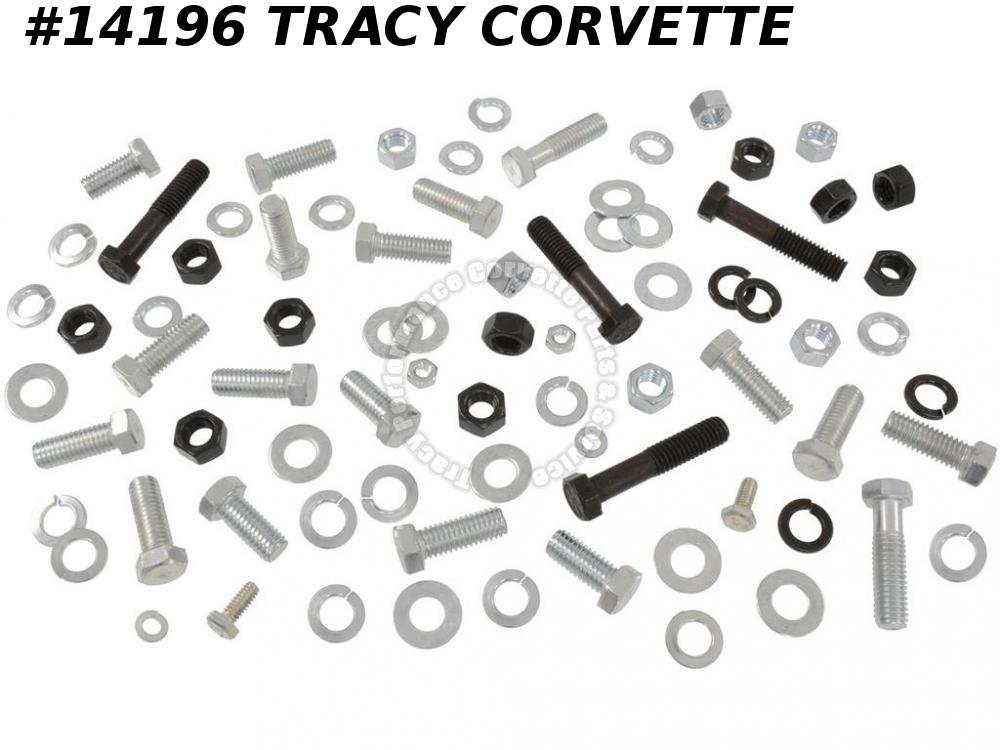 "1963-1967 Corvette Front Bumper Bolt Kit w/ Correct Headmark Bolts and 5/8"" Nuts"