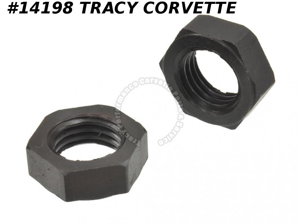 1953-1962 Corvette Front A-arm Control Arm Shaft Jam Nut Lower Outer - Set Of 2