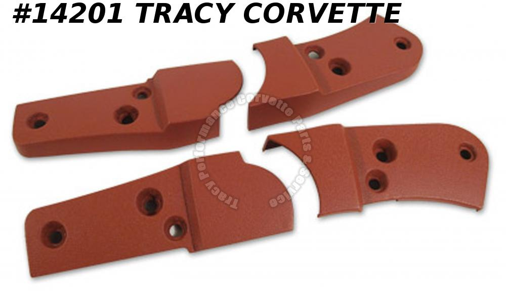1981 Corvette Seat Hinge Covers  Cinnabar     4 Piece Set