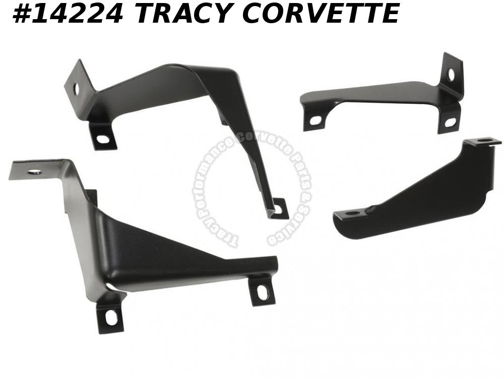 1975-1979 Corvette Grille Bracket Set Inner Outer LR 345485 345486 347917 347918