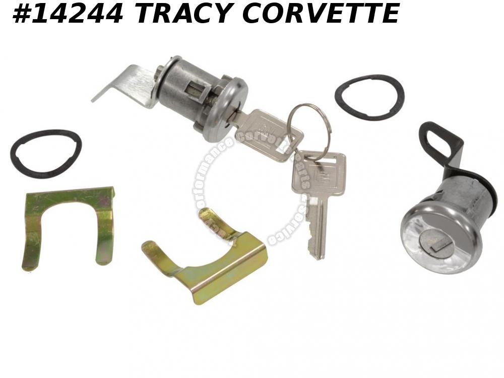 1969-1973 Corvette 2 Door Lock Cylinders W/Pawls/Retainers/Square Keys 70 71 72