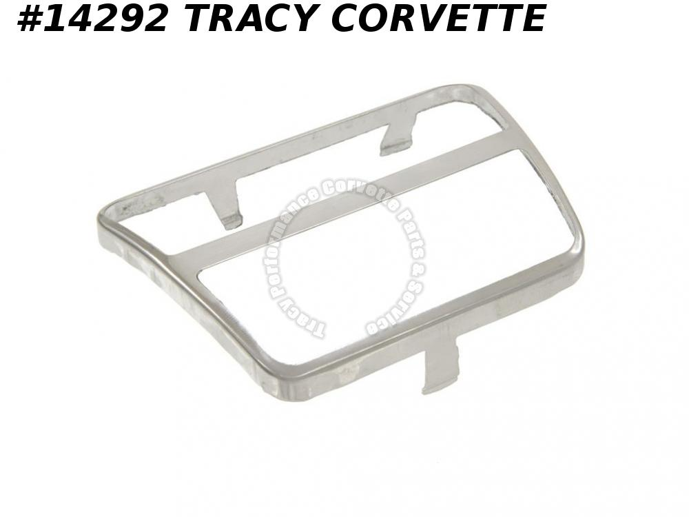1968-1979 Corvette Brake Or Clutch Pedal Pad Stainless Trim - Manual  3923615