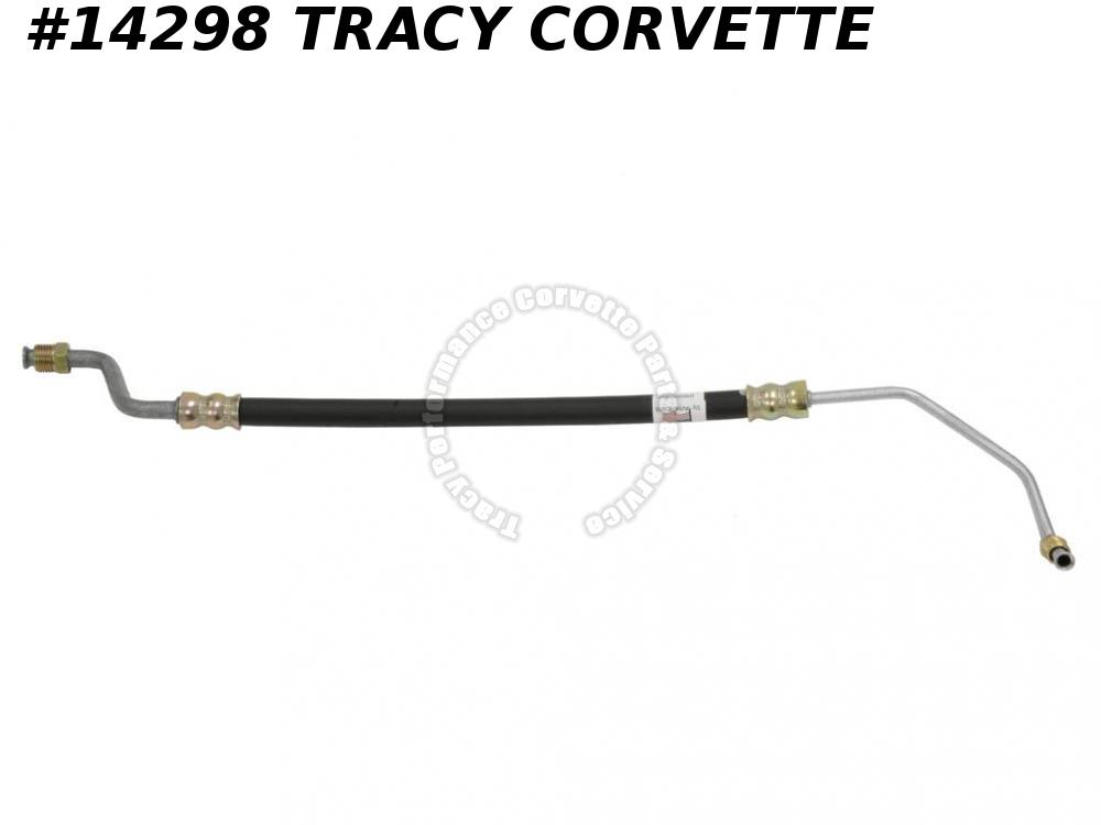 1963-1979 Corvette Power Steering Pump Pressure Hose 327 350 To Valve Inlet USA
