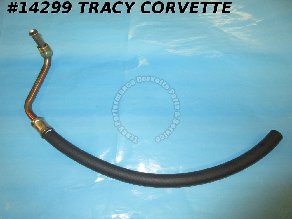 1963-1979 Corvette Power Steering Pump Pressure Hose 327 350 To Valve Inlet