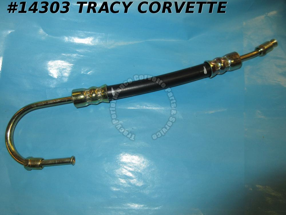1963-1982 Corvette Power Steering Cylinder Hose - To Retract  GM# 3826276