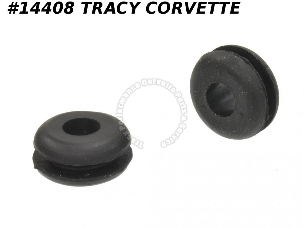 1963-1976 Corvette Windshield Washer Hose Firewall Grommet - 2 Piece Set 3824729