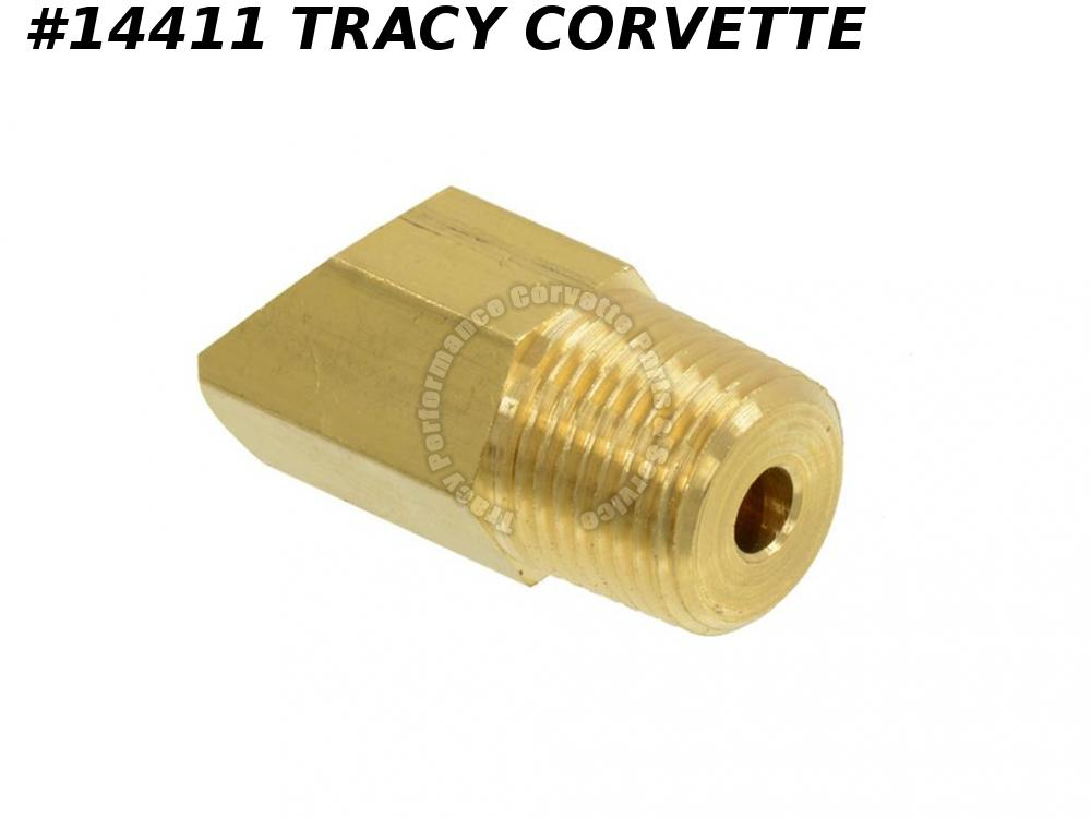 1969-1974 Corvette Oil Line Elbow GM# 3954219 427 454 All 45 Degree Brass