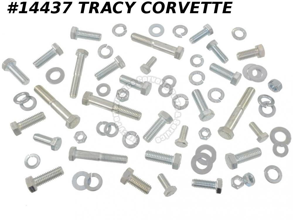 1958-1962 Corvette C1 Front Bumper Bolt Kit Replacement 65 Pieces