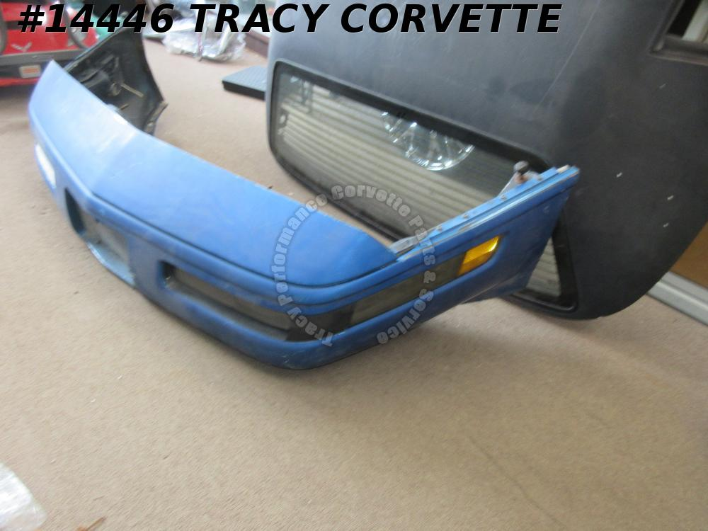 1991-1996 Corvette C4 Front Bumper Assembly w/ turn park lights reinf Cover Blue