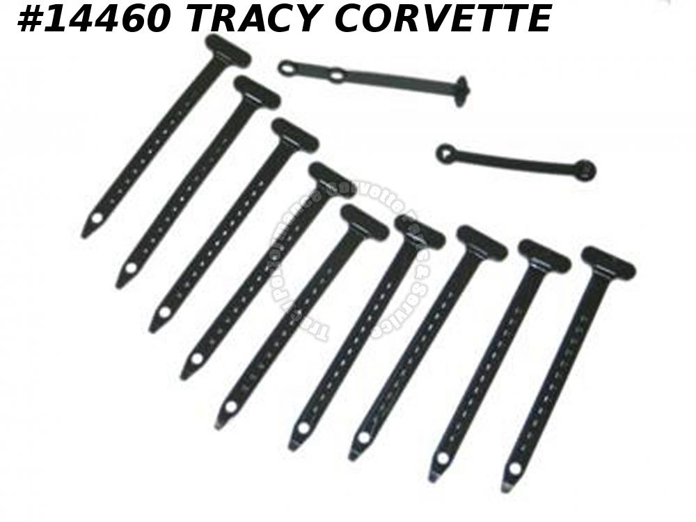 1968 Corvette Engine And Wire Tie Strap Kit - 11 Pieces