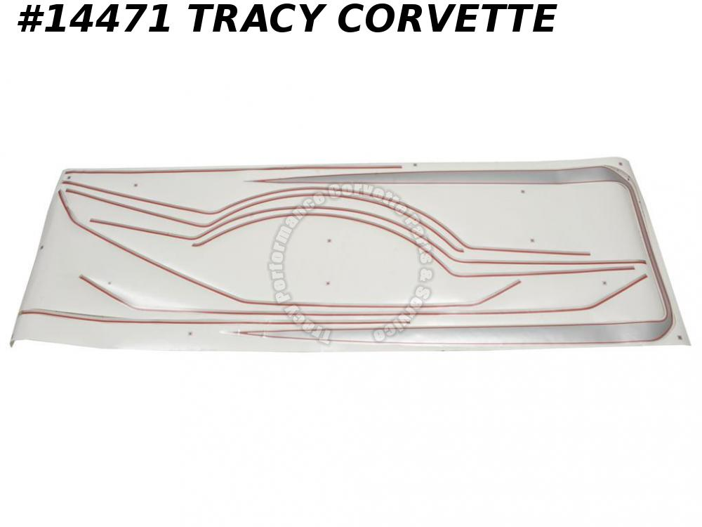 1978 Corvette Limited Edition Body Decal Kit - Red - Silver