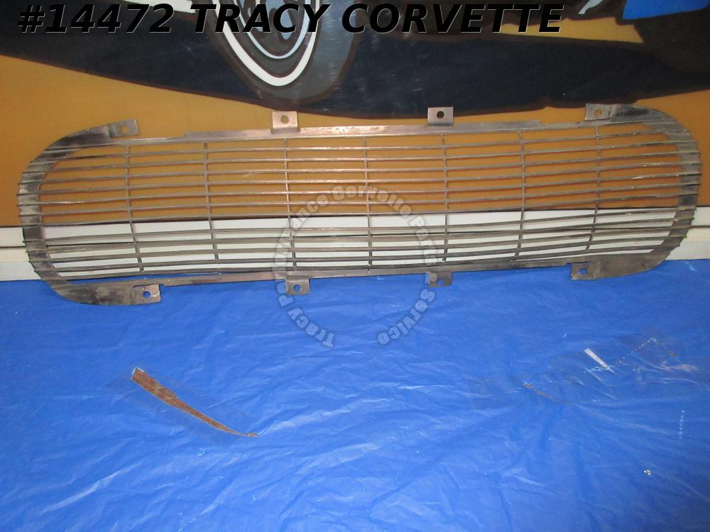 1962 Corvette Front Grille Black GM# 3799730 Original Used Requires Repair