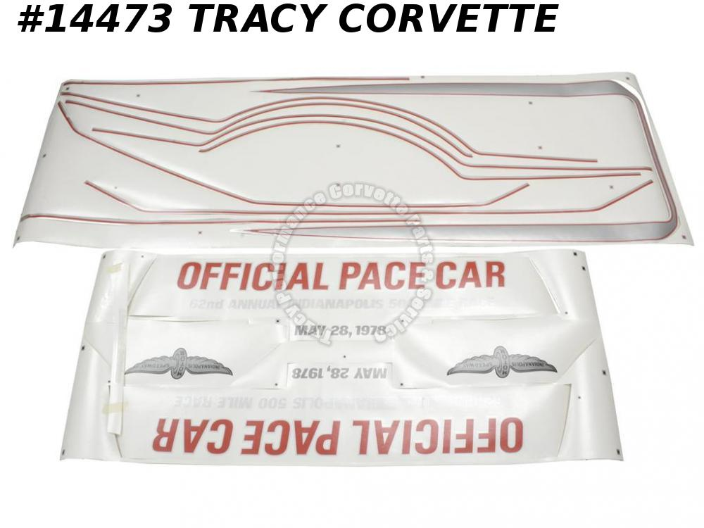 1978 Corvette Body Decal Kit - Pace Car Decals Complete Kit