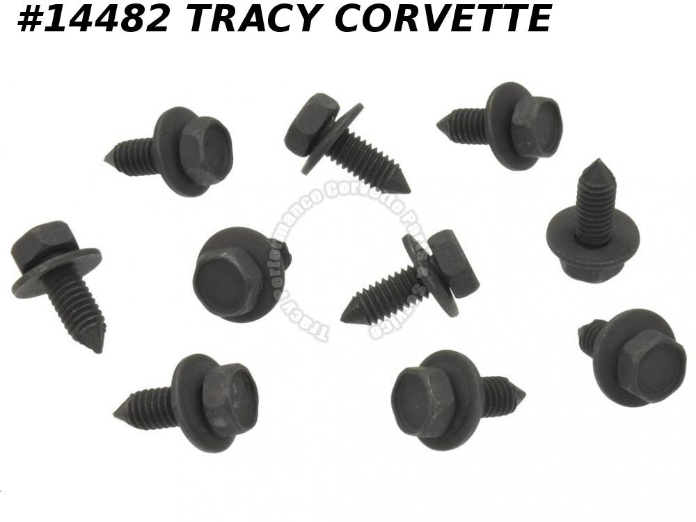 1963-1967 Corvette Hood Hinge Bolt Set - 10 Pieces GM# 3847758