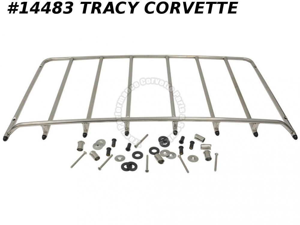 1968-1975 Corvette Luggage Rack 6 Bolt Stainless Steel w/ Mounting Hardware