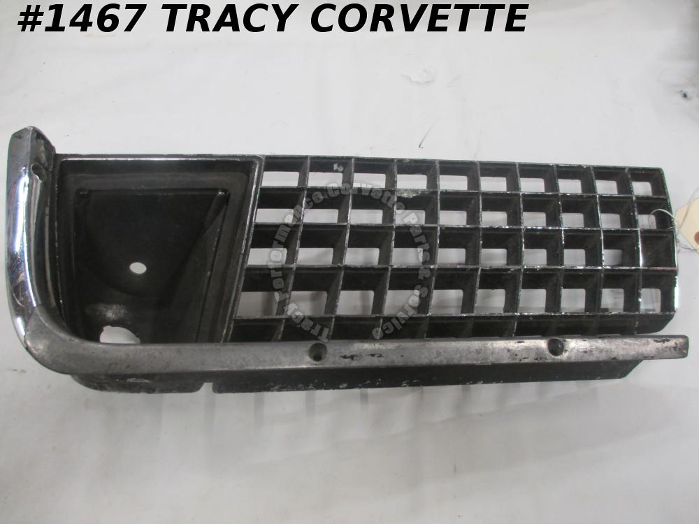 1971-1972 Corvette Used Original 3966794 RH Outer Grill 71 72 Will Also Fit 1970