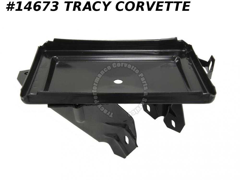 1963-1965 Corvette Battery Tray GM# 3824267 No AC Right mounted w/ Correct Legs