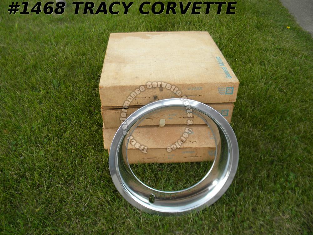 1968-1974 Corvette NOS 3923626 VeryRare NCRS 1st Design Rally Wheel Trim Rings/4
