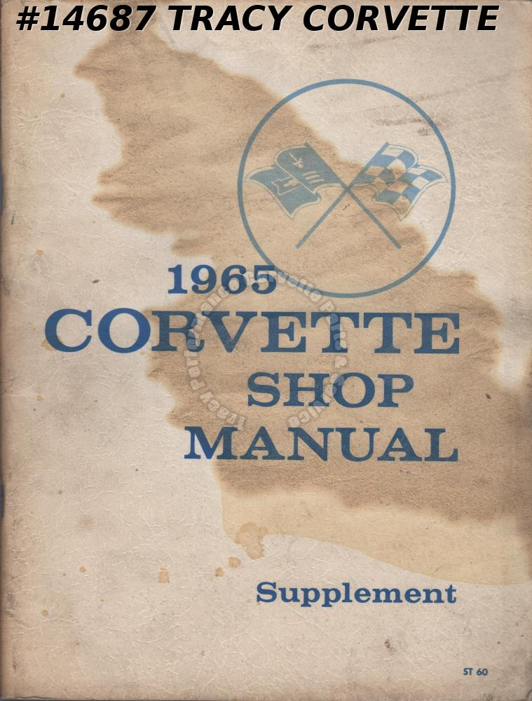 1965 Corvette Shop Manual Supplement