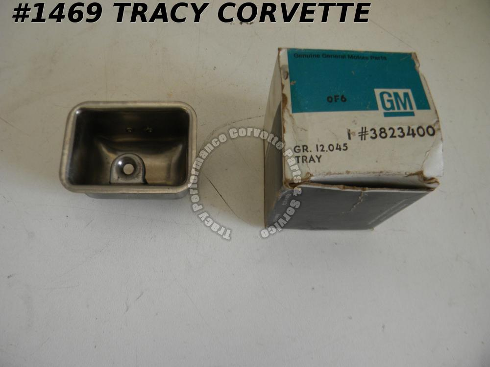 1963-1976 Corvette NOS 3823400 Console Ash Tray Housing 64 65 66 67 68 69 70 71