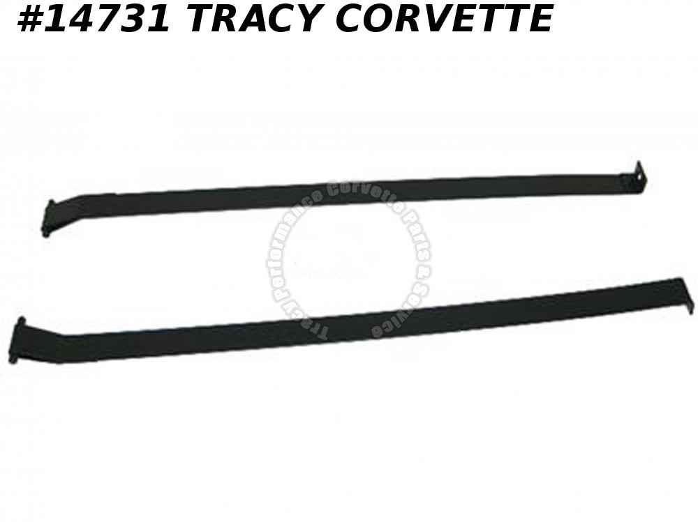1953-1962 Corvette Gas Tank Straps  GM# 3717813  powder coated