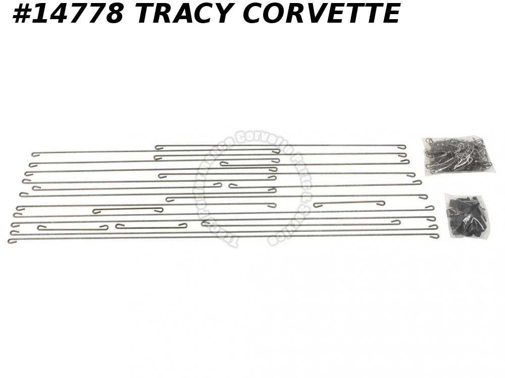 1970-1978 Corvette Seat Cover Installation Kit for Standard C3 Seats