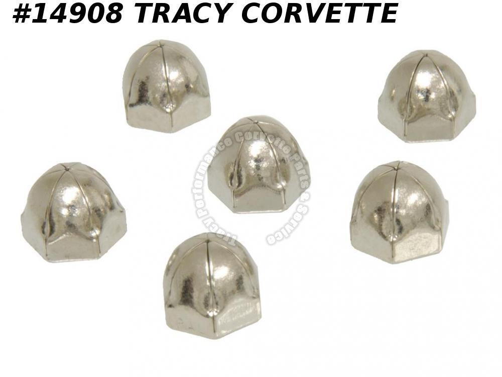 1978-1982 Corvette Seat Hinge Cover Acorn Nut GM# 9437976 Set - 4 Sets Req/ car