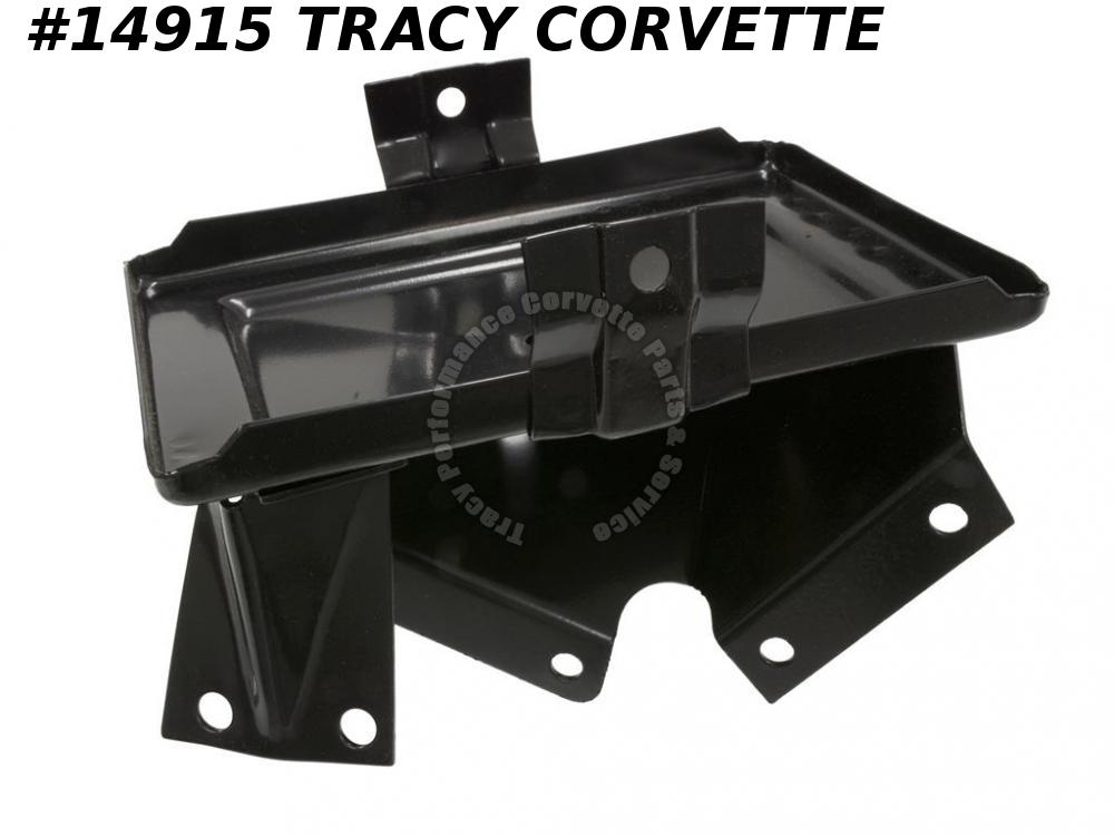 1963-1967 Corvette Battery Tray GM# 3833472 with AC or 1965 396  Left Hand Mount