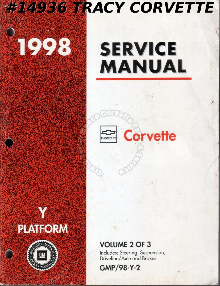1998 Corvette Y-Platform Service Manual Vol. 2 of 3
