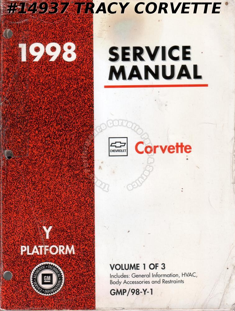 1998 Corvette Y-Platform Service Manual Vol. 1 of 3