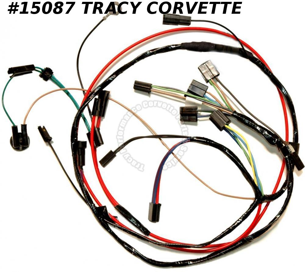 1967 Corvette Air Conditioning Wire Harness - All Includes Heater Wire