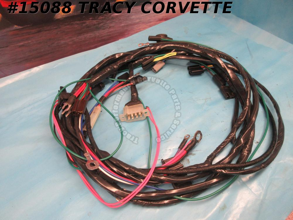 1964-1965 Corvette Ignition Wire Harness Small Block w/ AC Includes AC Comp GND