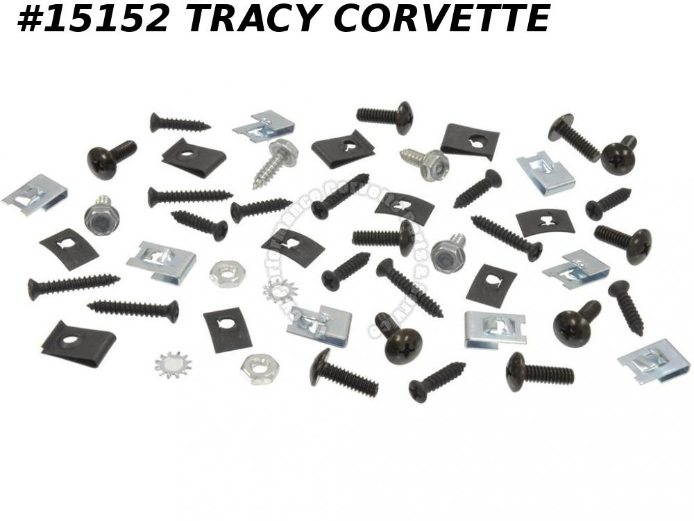 1968-1969 Corvette Rocker Moulding Mount Kit - 50 Pieces