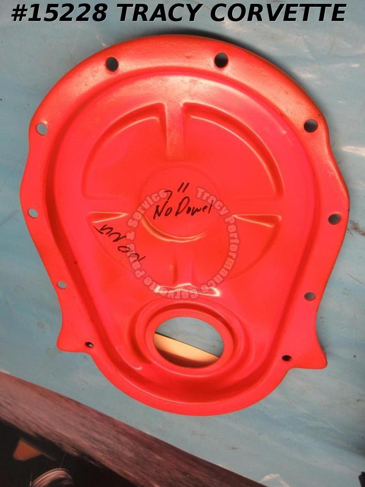 "1967-1969 Corvette Timing Chain Cover 427 for 7"" Balancer w/o Dowell Holes & Tab"