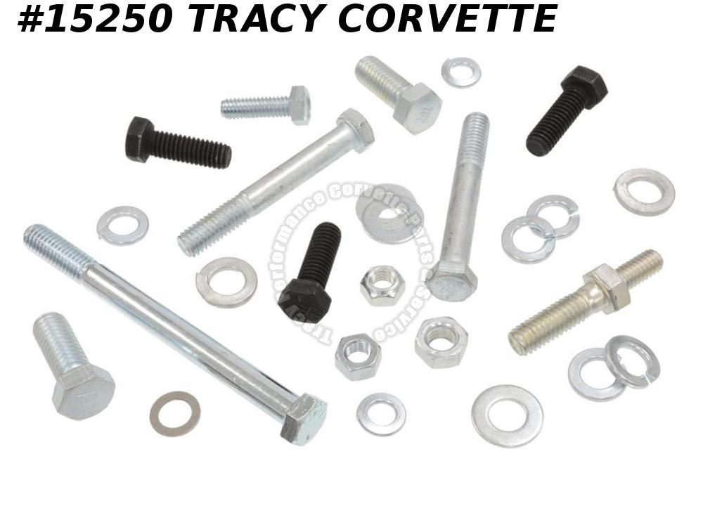 1965-1974 Corvette Alternator Bracket Bolt Kit w/ Power Steering 427/ 454