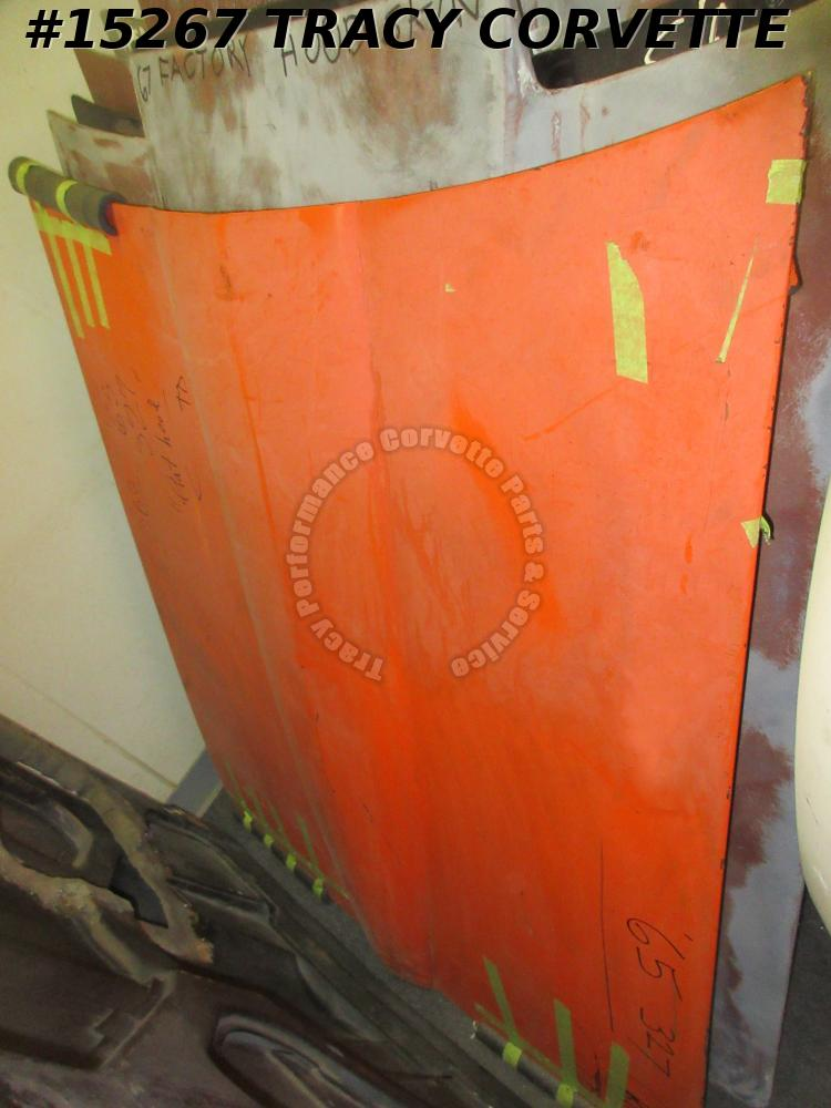 1965 Corvette Hood GM# 3857463 Small Block    Fiberglass    1966 1967     Orange