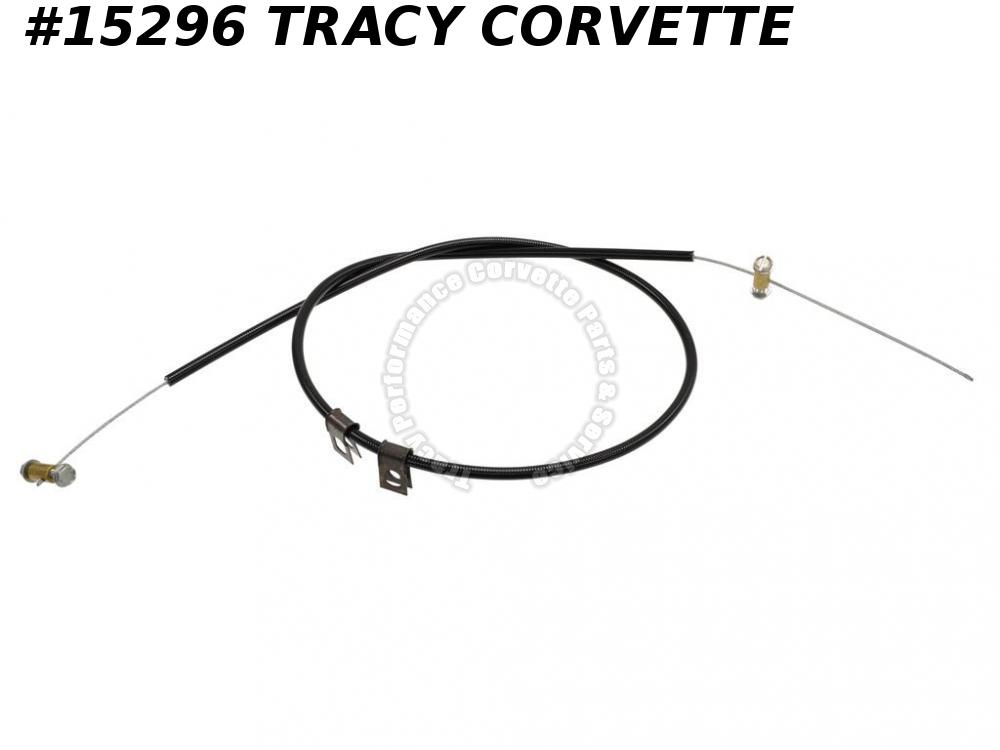 "1968 Corvette Hood Release Cable On Hood - Second Design 32"" Black Casing"